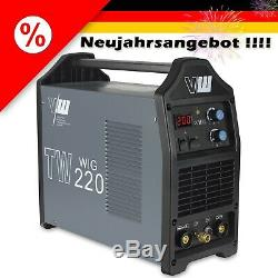 VECTOR Schweißgerät TW220 DC WIG 200A HF TIG MMA ARC Inverter Welder E-Hand