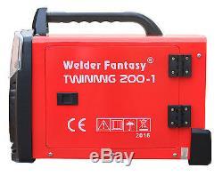 Welder Fantasy Twinmig 200a-i 2in1 Mig/mag/mma/arc 200a Igbt Gas! Uk Free Ship