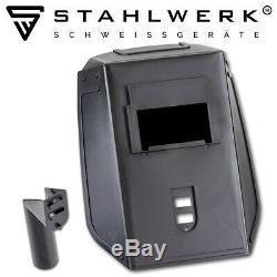 Welder STAHLWERK ARC 200 MD IGBT DC MMA welding machine + Helmet ST-450R black