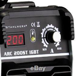 Welder STAHLWERK ARC 200 ST IGBT STICK MMA Welding with 200 Ampere