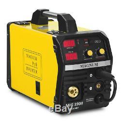 Welder Welding Machine Portable Inverter 200A Arc MIG TIG MMA Magnum MIG 190 SET