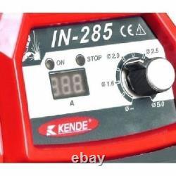 Welding Inverter Machine Kende IN-285 MMA 285A 220v Hot Start, Arc Force 4.5kg